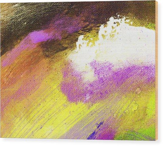 Propel Yellow Purple Wood Print by L J Smith