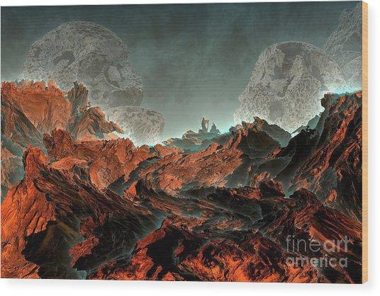Prophecy Wood Print by Bernard MICHEL