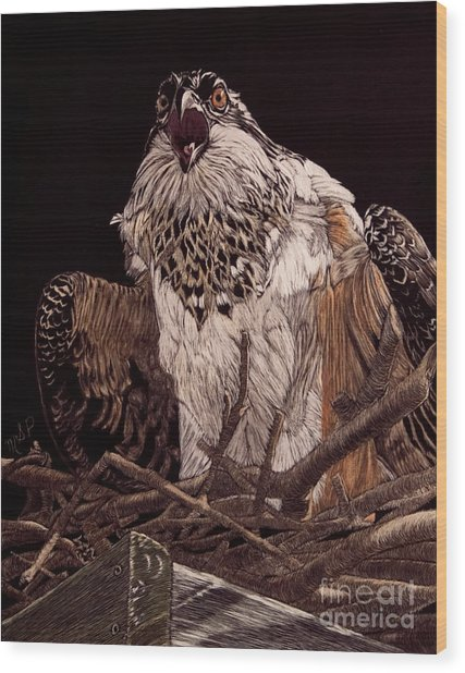 Protecting The Nest Wood Print