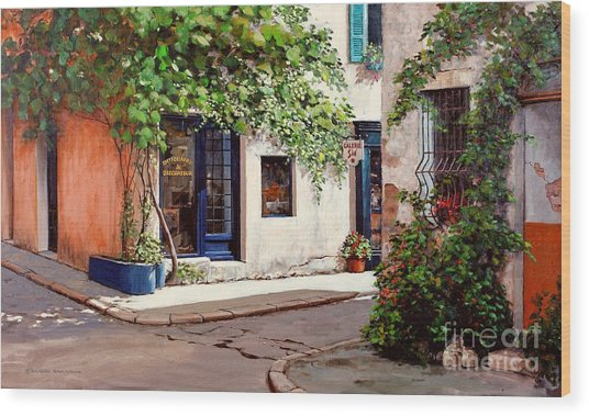 Provence Antiques Wood Print by Michael Swanson