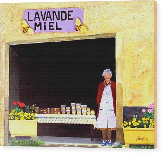 Provence Honey Shoppe Wood Print