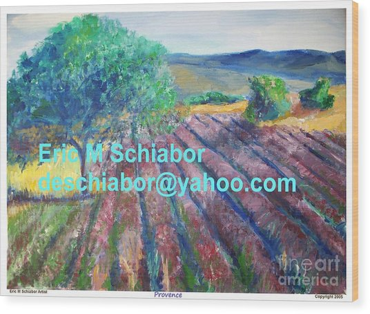 Provence Lavender Field Wood Print
