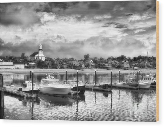 Provincetown Harbour View II Wood Print