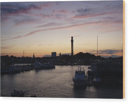 Provincetown Sunset Wood Print