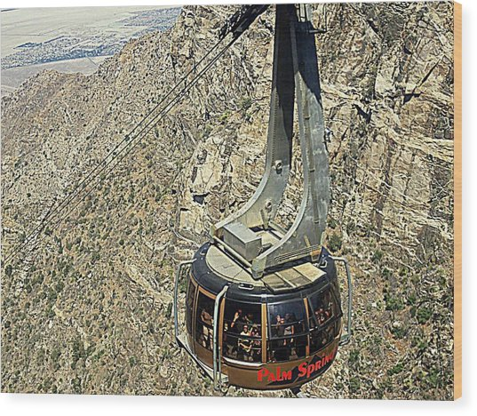 Ps Aerial Tram 18 Wood Print