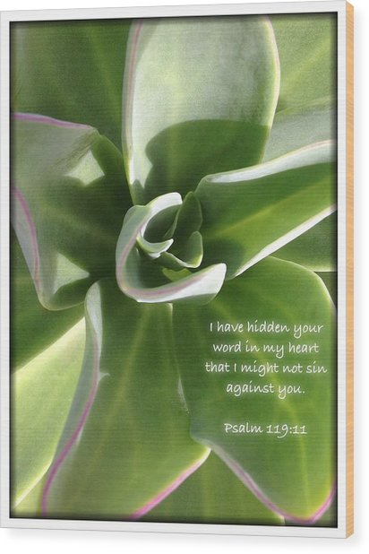 Psalm 119 19 Wood Print