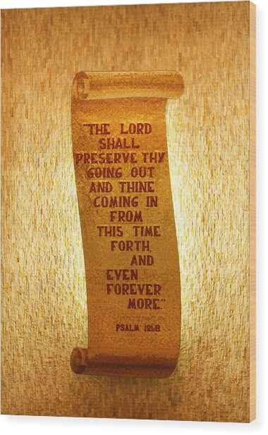 Psalm 121 Wood Print by James Hammen