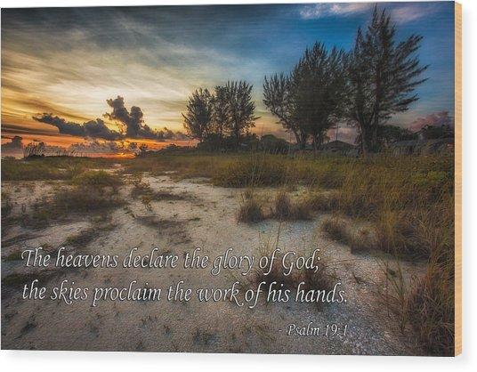 Psalm 19 Wood Print
