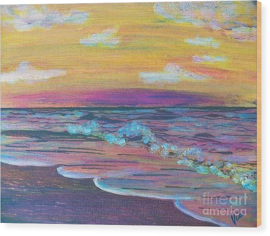 ptg  Sanibel Sunset Wood Print