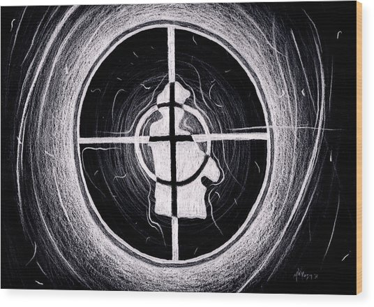 Public Enemy Hurricane Inverted Wood Print