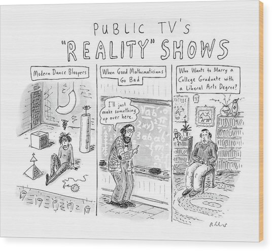 Public Tv's Reality Shows Wood Print