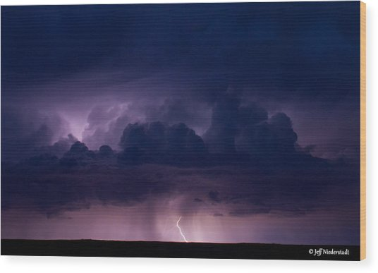 Pueblo Lightning Wood Print