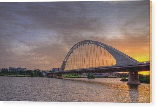 Puente De Lusitania II Wood Print