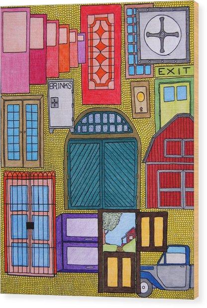 Puertas Wood Print