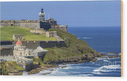 Puerto San Juan Light Ocean View Wood Print