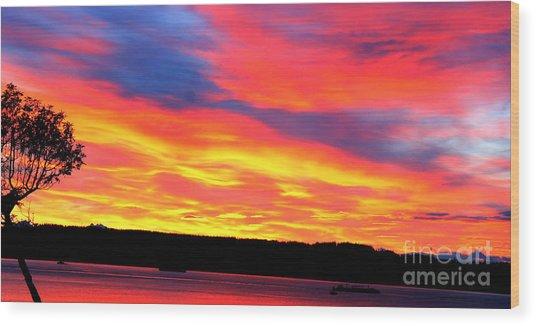 Puget Sound Colors Wood Print