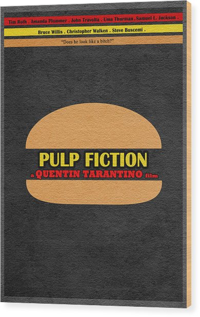 Pulp Fiction Wood Print
