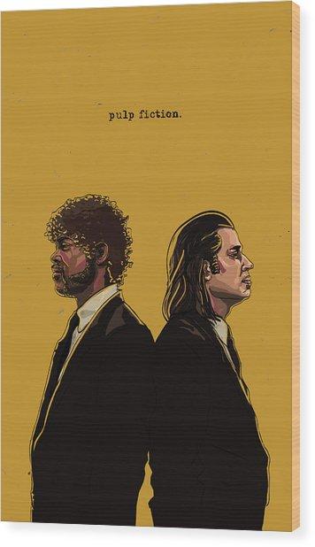 Pulp Fiction Wood Print