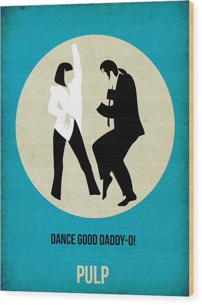 Pulp Fiction Poster 2 Wood Print
