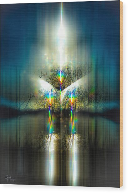 Pulsar Ignition Wood Print
