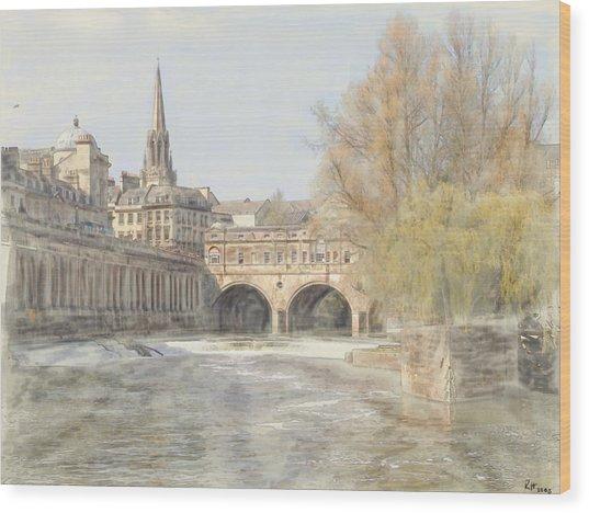 Pulteney Bridge Bath Wood Print