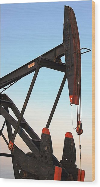 Pumpjack Wood Print