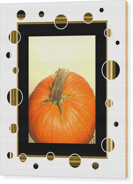 Pumpkin Card Wood Print