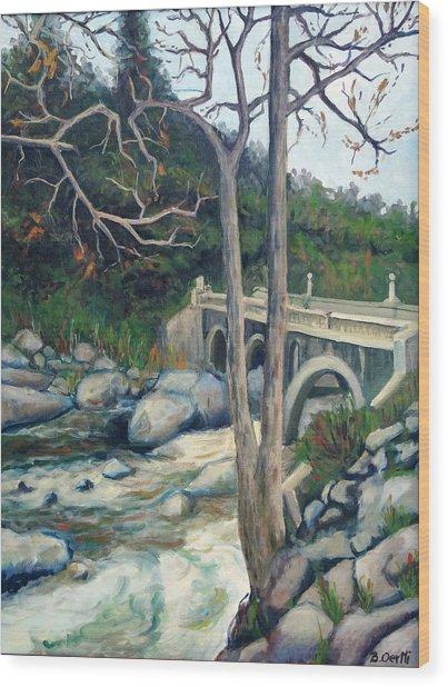 Pumpkin Hollow Bridge Wood Print