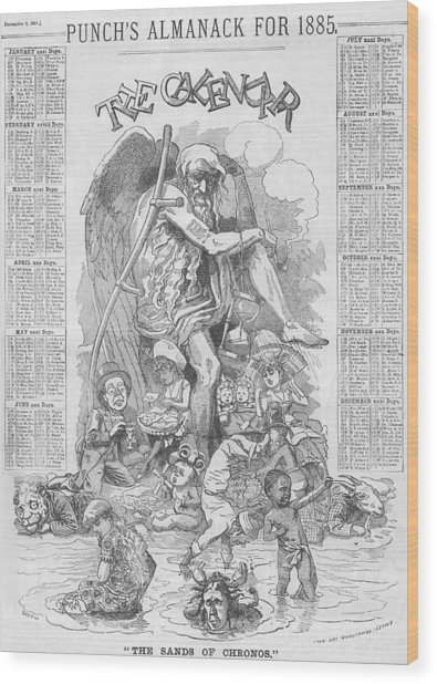 Punch's Almanack For 1885 Wood Print