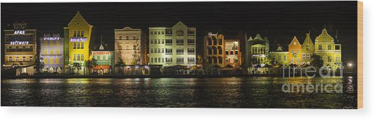 Punda At Night Panoramic Wood Print