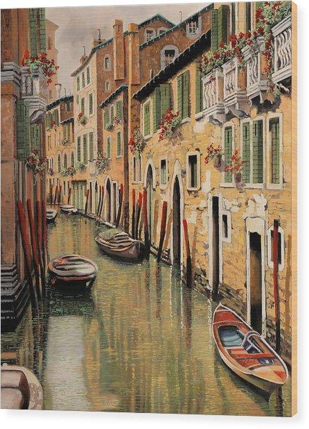Punte Rosse A Venezia Wood Print