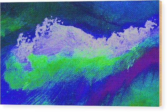 Pura Midnight Blue Wood Print by L J Smith