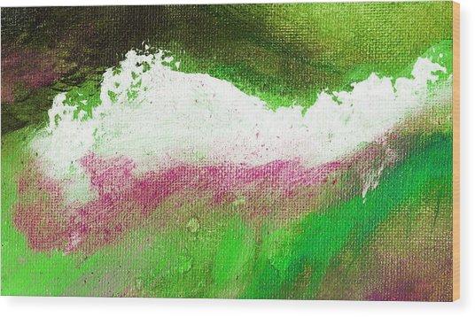 Pura Scarlet Green Wood Print by L J Smith