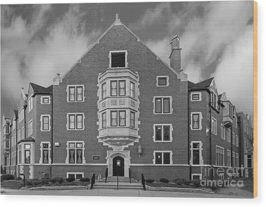 Purdue University Duhme Residence Hall Wood Print by University Icons