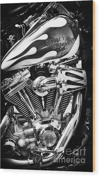 Pure Harley Chrome Wood Print