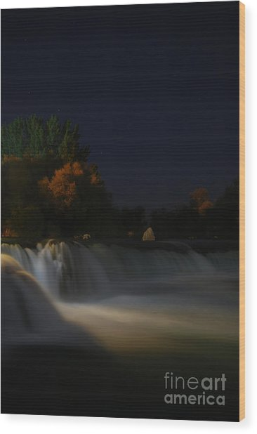 Pure Spirits Of The Waterfall Wood Print