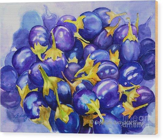 Purple Abundance Wood Print