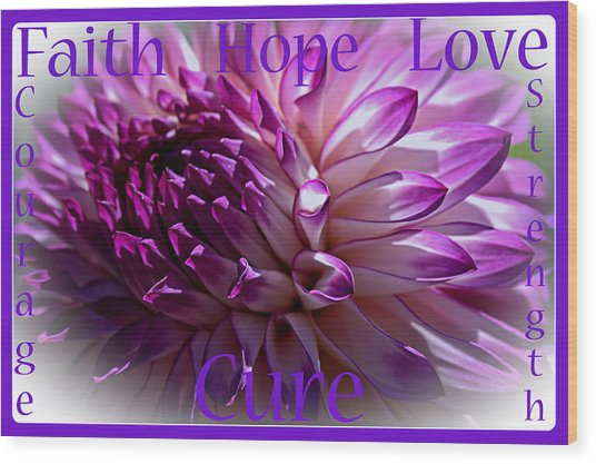 Purple Awareness Support Wood Print