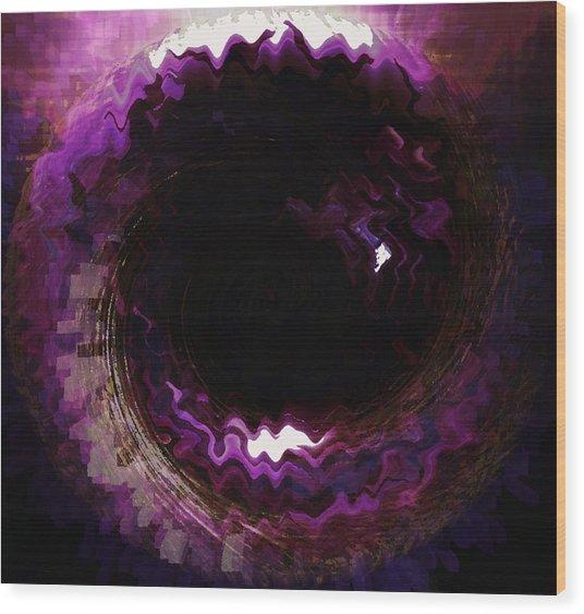 Purple Blackhole  Wood Print
