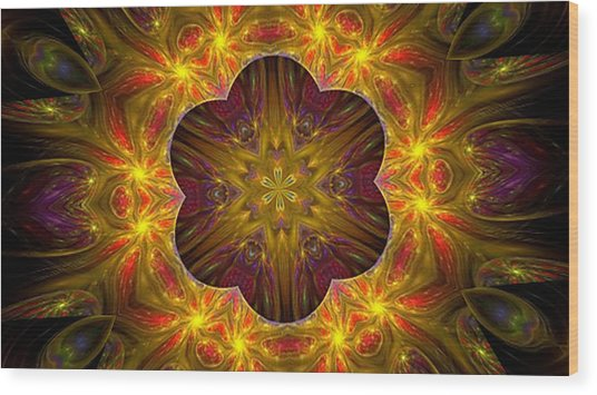 Purple Bliss Kaleidoscope Wood Print