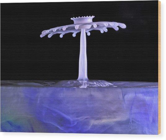 Purple Crown Wood Print by Gemma June