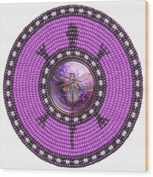 Purple Dragonfly Wood Print