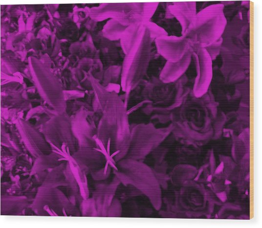 Purple Dreams Wood Print