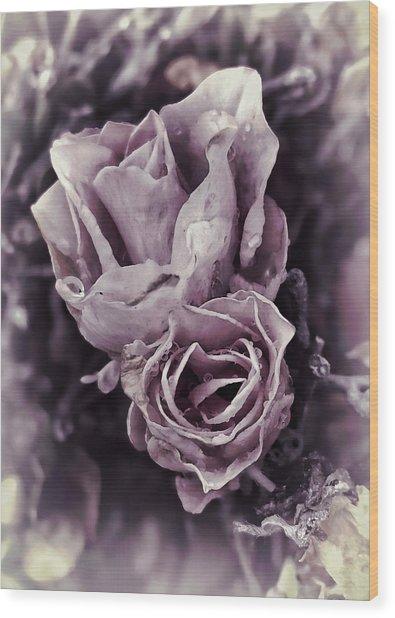 Purple Elegance Wood Print