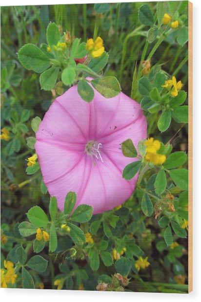 Purple Flower Wood Print by Tinki Pinki Art