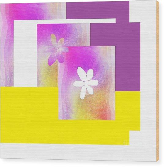 Purple Glow Flower Wood Print
