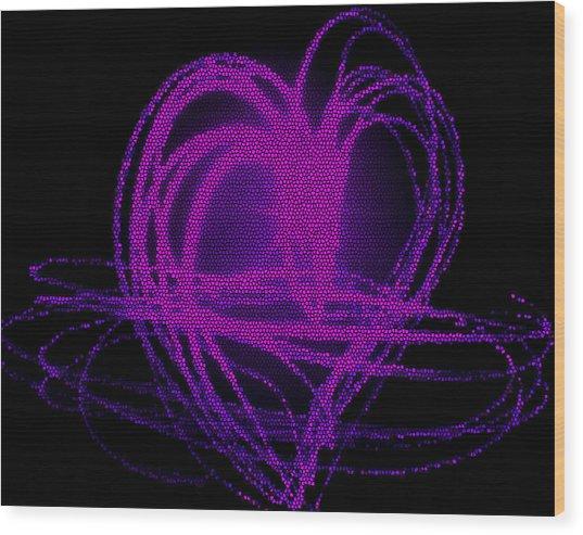 Purple Heart Wood Print by Aya Murrells