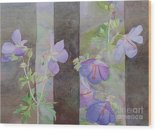 Purple Ivy Geranium Wood Print
