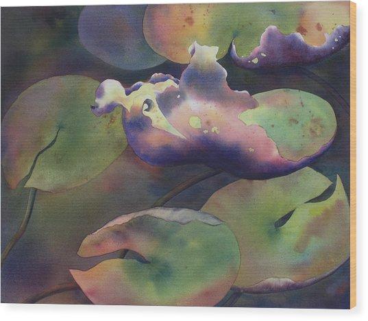 Purple Linings II Wood Print