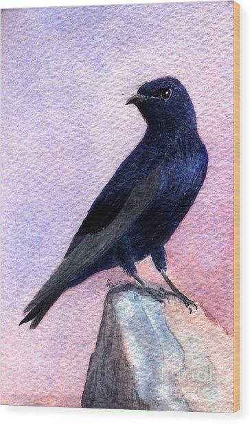 Purple Martin Wood Print